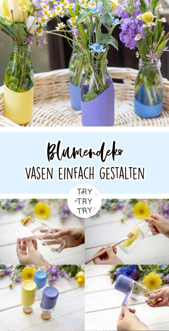 Einfache und schnelle DIY Blumenvase