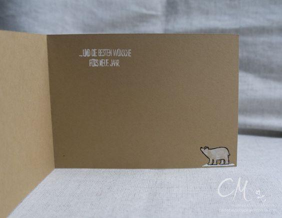 Caros Bastelbude: Adventskalender Türchen Nr. 13, Weihnachtskarte mit Set Weiße Weihnacht von Stampin' Up!