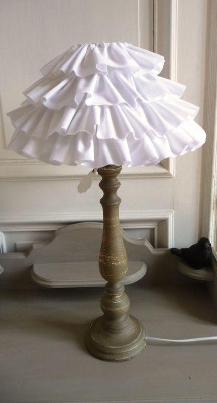 DIY Ruffled Lamp Shade Tutorial...
