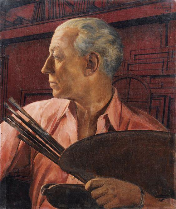 Bernard Boutet De Monvel  (1881-1949) — Self Portrait with a Palette, 1932  (1000×1193)