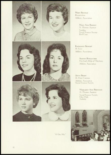 1960 Siena High School Yearbook via Classmates.com