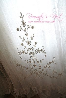 Antique French lace curtains | Lace and linen | Pinterest | French ...