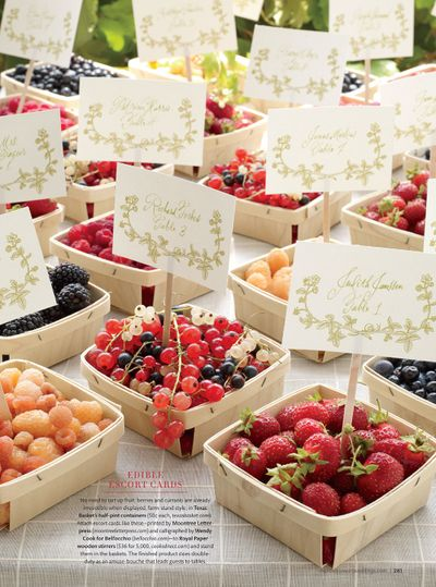 berry basket | martha stewart weddings