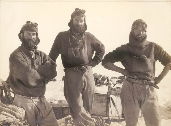 Australasian Antarctic Expedition, 1911-1914. Photo from the Expedition [group portrait], 1911-1914. Photos include Correll, Hurley, Mawson, McLean, Mertz, Moyes, Watson and Wild. State Library of NSW.