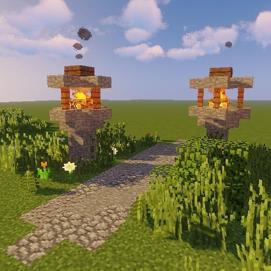 Custom Simple Street Lamp 2 Botcraft Net In 2020 Amazing Minecraft Minecraft Decorations Minecraft Farm