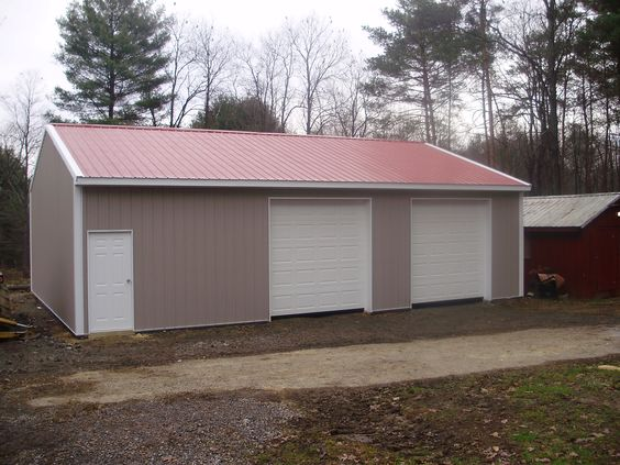 """Building Dimensions: 30' W x 40' L x 10' 4"""" H (ID# 276)  Visit: http://pioneerpolebuildings.com/portfolio/project/30-w-x-40-l-x-10-4-h-id-276-total-cost-12974  Like Us on Facebook! www.facebook.com/... Call: 888-448-2505 for any questions!"""
