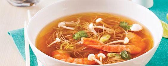 Essayez notre fabuleuse recette de Soupe thaï aux crevettes. Laissez vos commentaires sur notre recette de Soupe thaï aux crevettes!