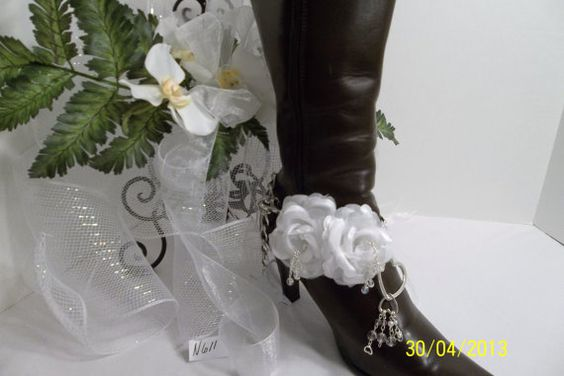 Boot Bangles  Wedding by BeDazzledShop on Etsy, $65.00