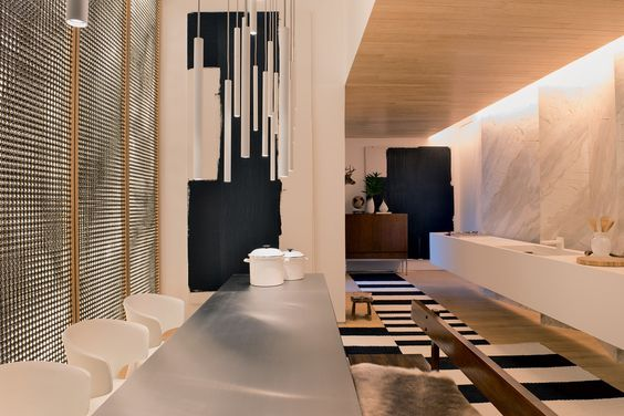 Ambiente Guilherme Torres, cozinha gourmet, um espaço conceitual com design e tecnologia de ponta.