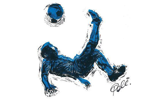 Quadros pintados por Pelé