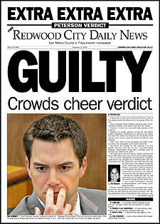Scott Peterson murdered pregnant wife, Laci. Death penalty verdict.