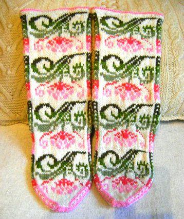 """Socks """"Fabulous flower"""", Tatiana"""
