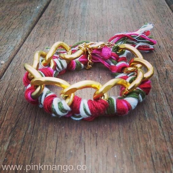 Multicolor braided chain