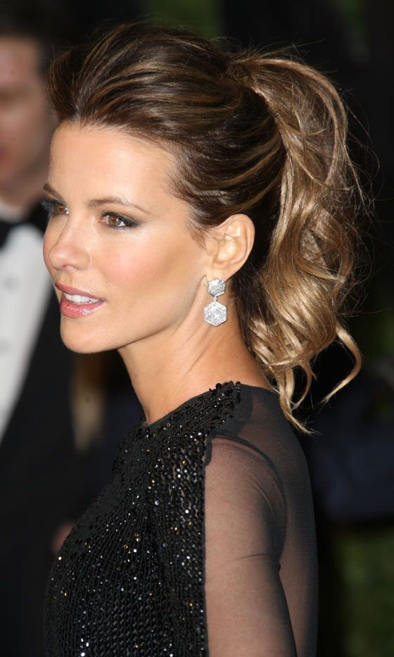 Kate Beckinsale's Textured Ponytail Is A Winning Look, 2011: