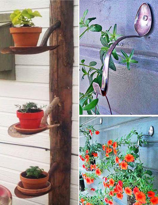 Idee für den Garten - Kaffeesäcke Garden Pinterest Upcycling