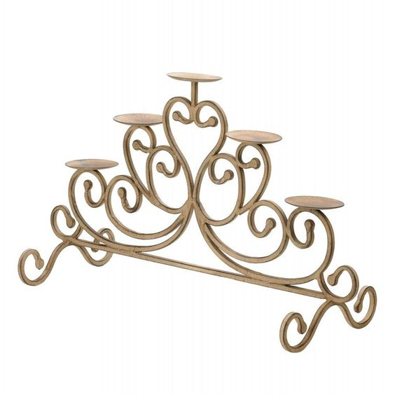 Cast Iron Candleabra Candles Table Mantel Light Decoration Room Rustic Metal #GalleryofLight