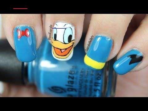 Disney Nail Art Video Tutorial Donald Duck Disney Nail Art