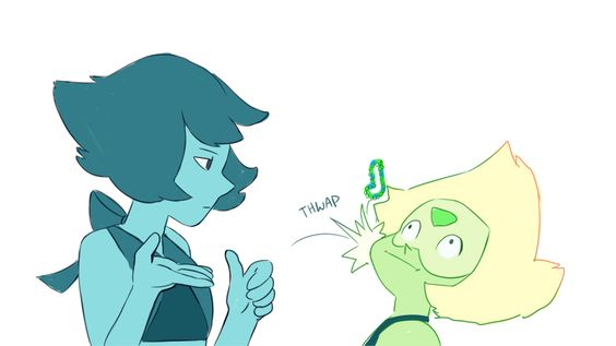 predictions Lapis Lazuli and Peridot SU(Steven Universe) gift giving take that friendship bracelet in the face XD