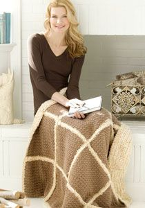 Faux Shearling Throw ~ Looks like a nice thick winter afghan...