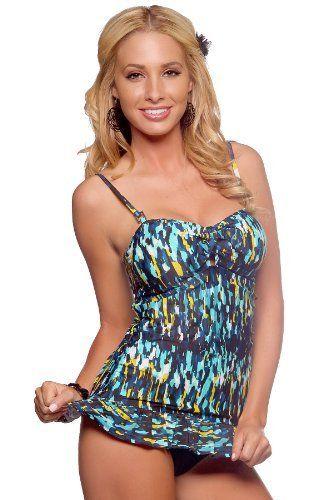 Retro Printed Two Piece Long Tankini Ruffled Skirt Beach Bikini Swimwear Hot from Hollywood, http://www.amazon.com/dp/B0057Z2W2C/ref=cm_sw_r_pi_dp_hyQLqb1JSV8N2