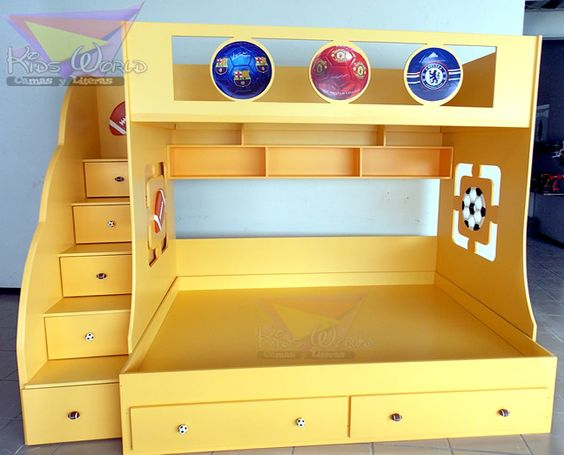 Unisex Kids Room With Bunkbeds