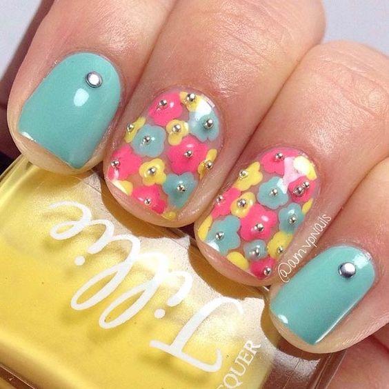 50 Flower Nail Designs for Spring: