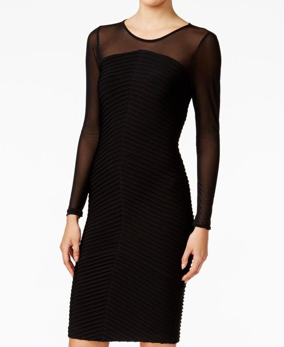 Calvin Klein Illusion Banded Dress