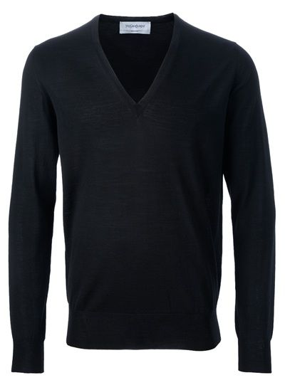 YVES SAINT LAURENT - v-neck jumper 1