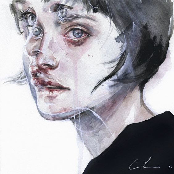 Agnes Cecile. Watercolor: