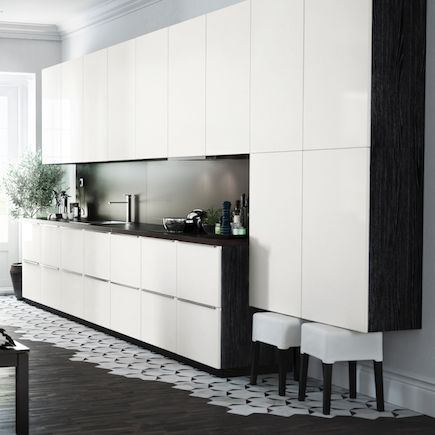 kitchen ikea metod ringhult yellow white gloss home kitchen pinterest new. Black Bedroom Furniture Sets. Home Design Ideas