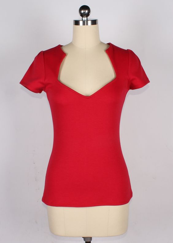 Sophia Top in Red   Doll Me Up