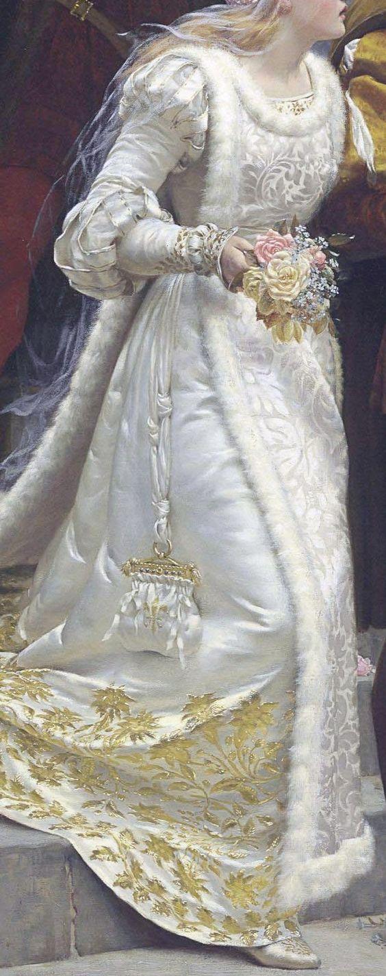 """Detalle de """"LLamada a las armas"""" (1888). Edmund Blair Leighton (G.B. 1852-1922)."""
