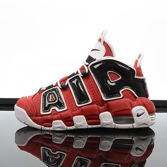 "The Nike Air Uptempo from the Asia-Exclusive ""Hoop Pack"" is back in kids sizes. #sneaker #sneakerfiles #sneakershouts"