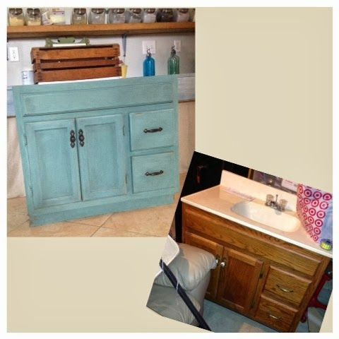 Painting Bathroom Cabinet bathroom vanity redo using a mix of kitchen scale and linen milk