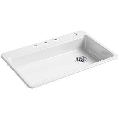 Kohler Riverby 33 L X 22 W Top Mount Single Bowl Kitchen Sink