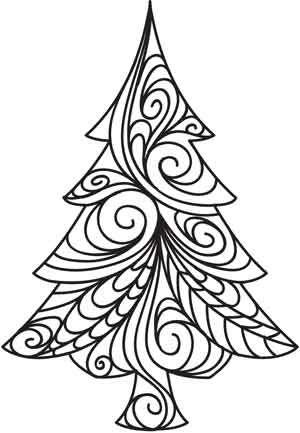 Doodle Evergreen design (UTH3909) from UrbanThreads.com