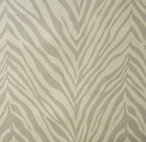 Home Decor Fabric Designer Fabric Cotton Zebra Grey Natural Upholstery