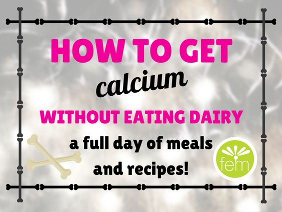 how to get enough calcium without dairy products