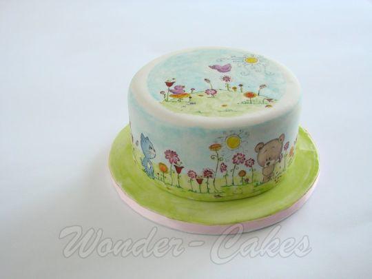 Cute little spring cake