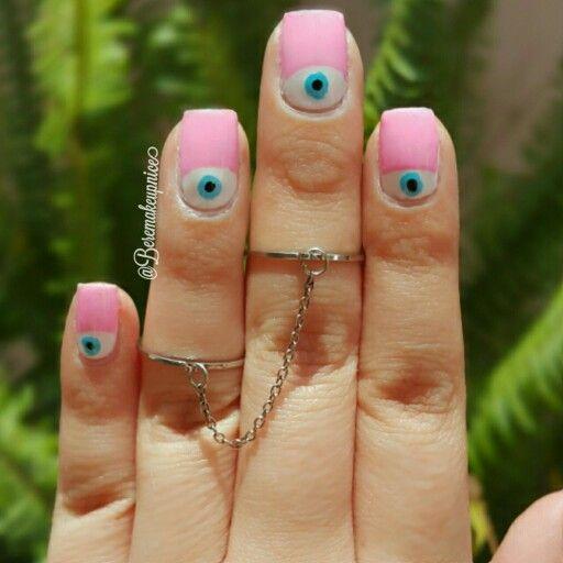 Boho chic nail art and midi rings