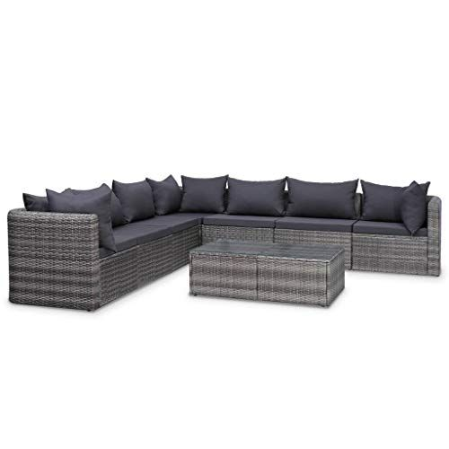 Vidaxl Meuble De Jardin 8 Pcs Et Coussins Et Oreillers Resine Tressee Salon De Jardin Mobilier De Balcon Te In 2020 Patio Sofa Set Sectional Patio Furniture Patio Sofa
