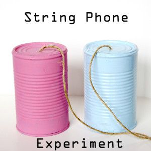 String Phone Experiment - Learn about Sound Waves with this fun Science Experiment!