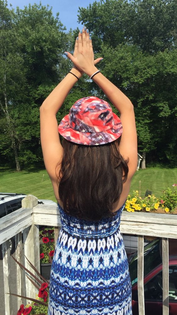 Red White and Bucket Hats Alpha Phi UConn
