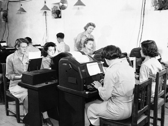 U.S. Navy Approves Use Of Lower-Case Letters NPR.org - (photo: Teletype operators relaying U.S. military communications in North Africa during World War II.)