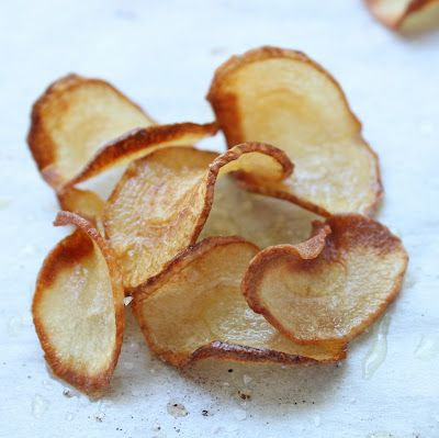 Parsnip Chips - surprisingly low carb, these have both a sweet and salty thing going on - delicious!