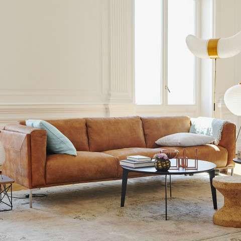Benoni 3 Sitzer Sofa Moderne Couch Sofa Ledersofa