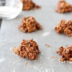 Light(er) No-Bake Cookies with Dulce de Leche & Sea Salt