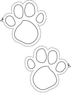 Footprint easter baskets and little ones on pinterest for Bear footprints template