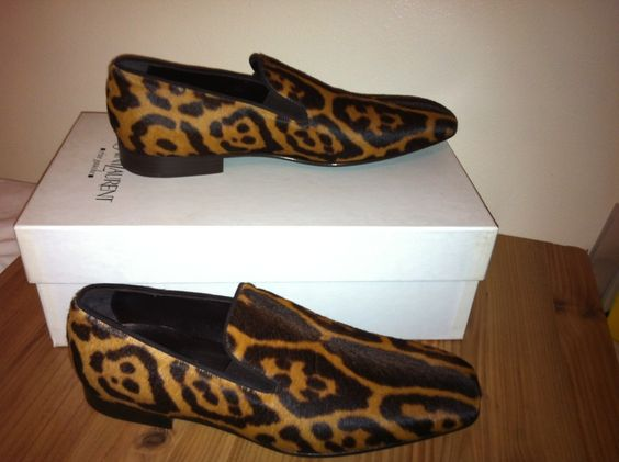 saint laurent duffle bag - FS: MENS YVES SAINT LAURENT LEOPARD PRINT PONY SKIN LOAFERS SIZE ...