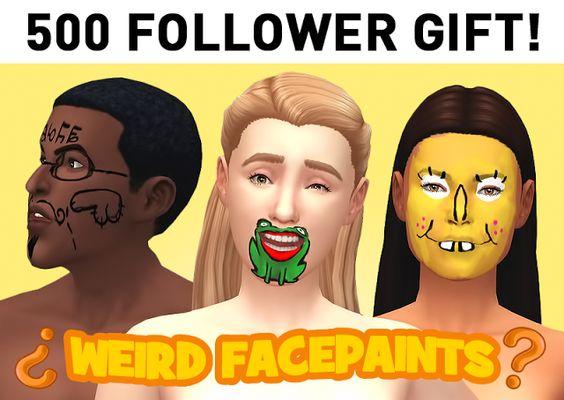 Sims 4 CC's - The Best: Facepaints by Cabsim